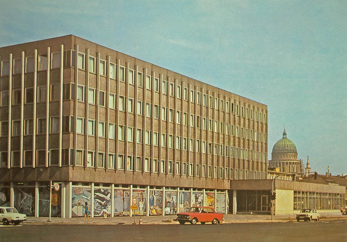 Datenverarbeitungszentrum um 1980, Blick nach Nordosten /